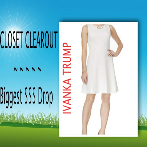 03288906aa72e Ivanka Trump Dresses | New Ivory Ponte Sheath Toggle Dress | Poshmark